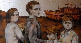 اللوحة للفنانة مروى النجار